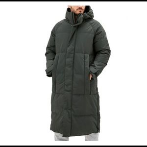 NWT Men's Adidas Down Puffer Long Parka Size Small
